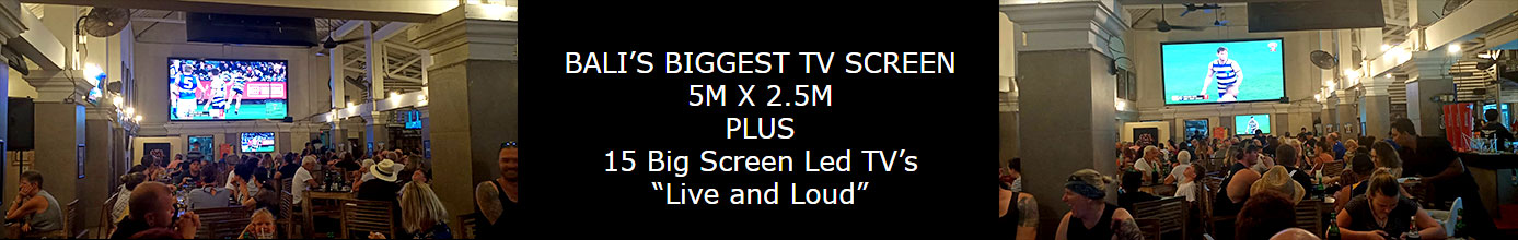 "Bali Biggest TV Screen 5 x 2.5M - 15 Big Screen Led TV's ""Live and Loud"""
